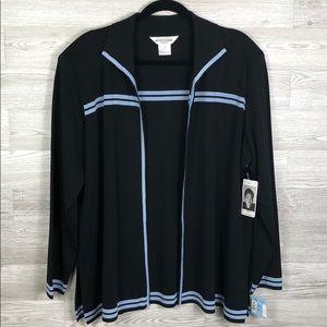 NEW Misook Fine Knit Cardigan Sweater